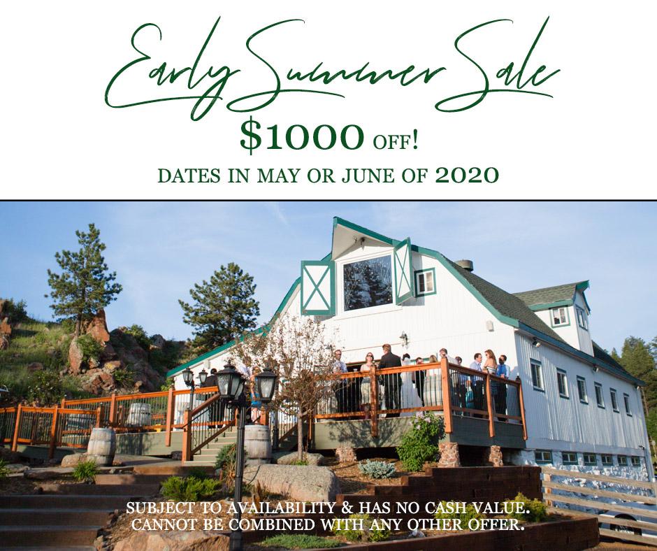 wedding venue discounts colorado deer creek valley ranch coupons