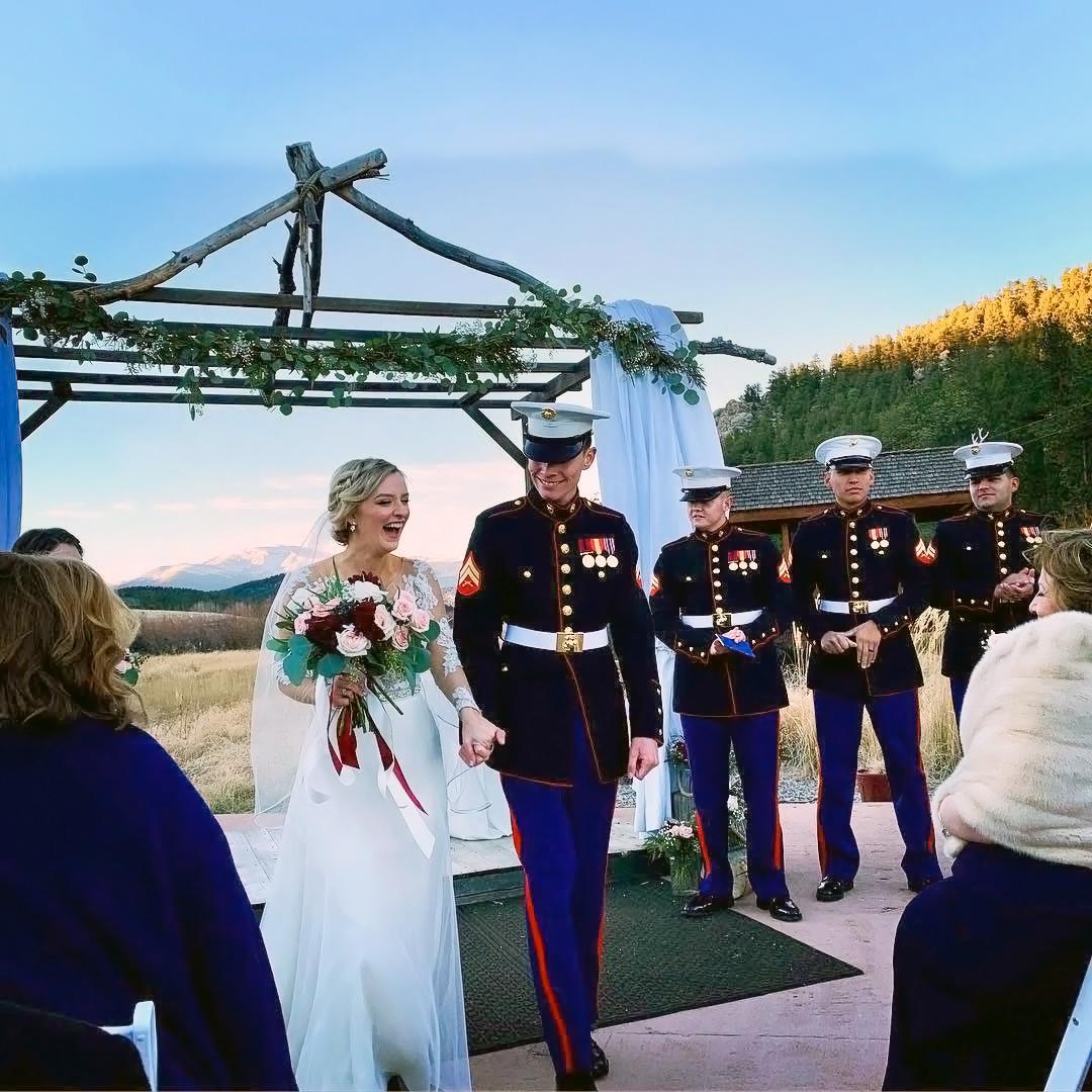 deer creek valley ranch military wedding