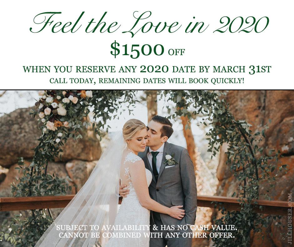 Colorado wedding special discount